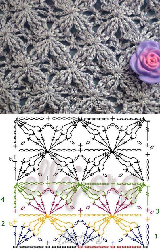 Modello velluto Star • Crochet di Elena Kozhukhar