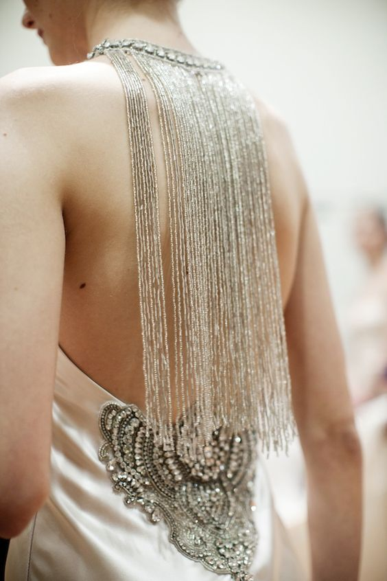 How incredible is this back detail?! Johanna Johnson 'Muse' collection