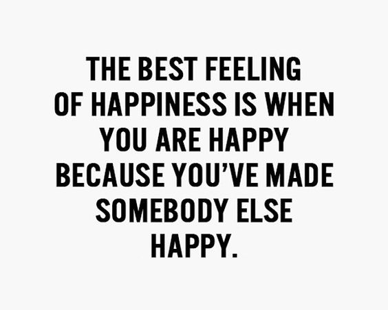 The best feeling of happiness :D