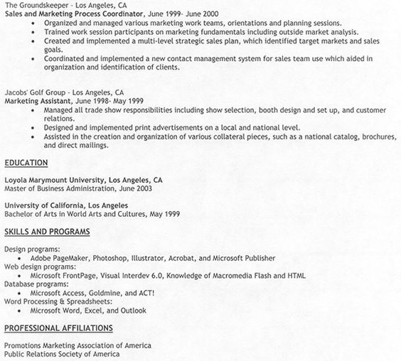 Resume Template For Work Experience - http\/\/jobresumesample - basketball coach resume