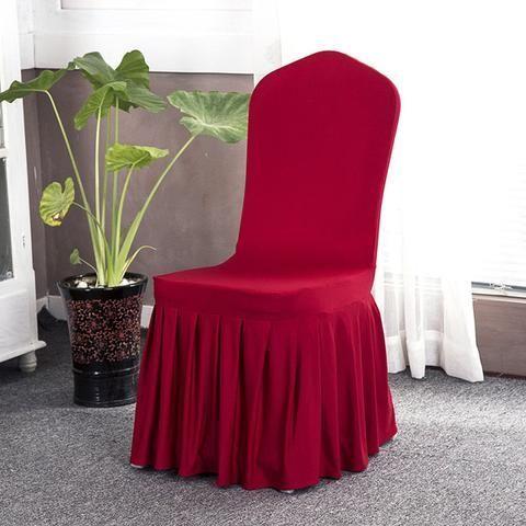Solid Color Stretch Chair Covers Dining Slipcovers Kitchen Ideas For Home Easy Cheap Spandex Design Elegant Fabric Sim Sillas Fundas Sillas Fundas Para Sillas