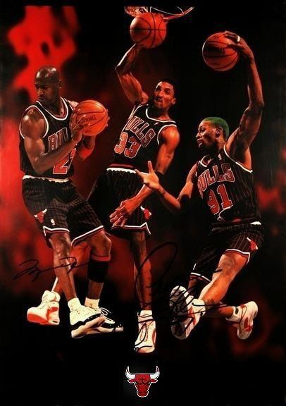 Jordan Pippen Rodman | Jordan poster