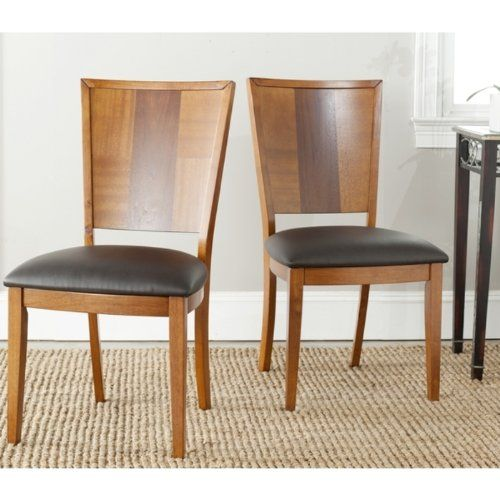 Safavieh Lance Dining Side Chair in Brown (Set of 2)