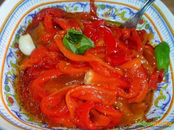 Contorno di Peperoni al forno  #ricette #food #recipes