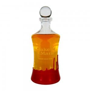 Gift idea for the bourbon lover - a Personalized Waterford Decanter. Add a touch of class and wax to your bar!