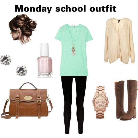 Monday School Outfit Created By Andreafashion1 On Polyvore. I Love Easy Monday Outfits. Its So ...