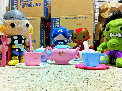 This is clearly Earth's mightiest tea party.