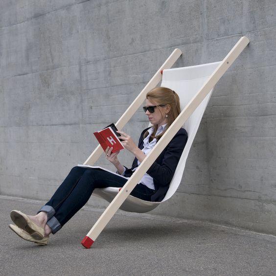 Curt deck chair Lean on chair by BERNHARD | BURKARD