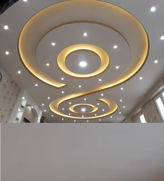 Latest Gypsum Board False Ceiling Design For Living Room Pop