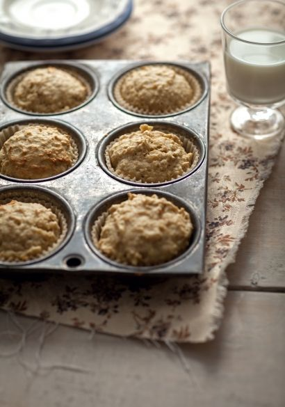 Muffins au gruau & aux pommes - Recette | Trois fois par jour - faibles en sucre et en gras