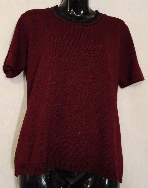 SAN REMO by Laura Knits Burgundy Elegant Classy Size Small #SanRemobyLauraKnits #Pullover