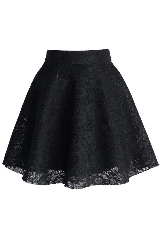 I have a lace skater skirt similar to this one. It's my absolute favorite skirt! :)