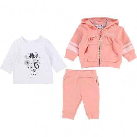 Hugo Boss 3pc Tracksuit Zero 20 Kids Girl Outfits Clothes