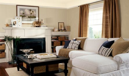 Eddie bauer home lowes wall color wicker eb11 2 paint for Country cottage living room paint colors