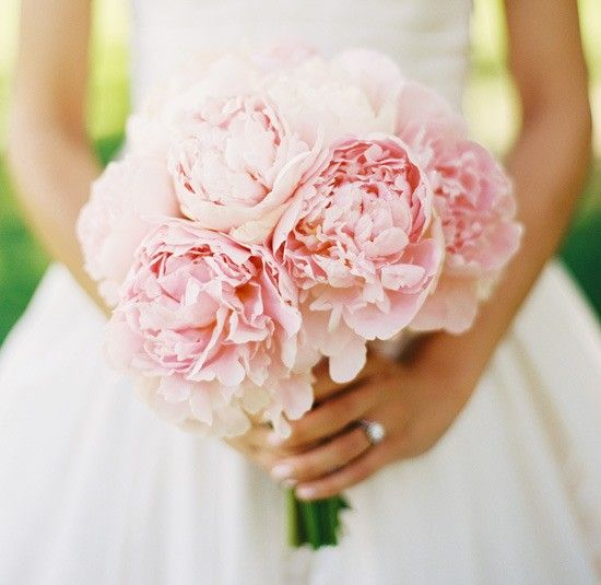 Pink Peony Bouquet ideas for flowers??