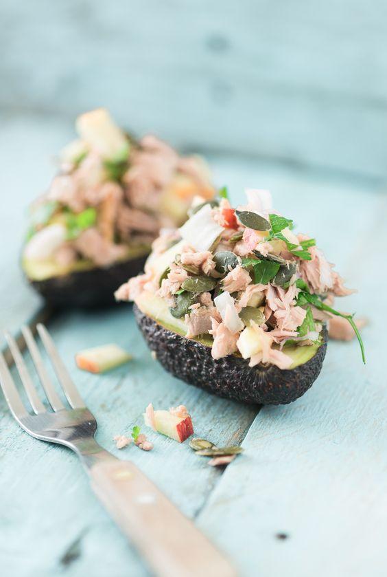 Tonijnsalade met avocado en appel - Voedzaam en snel
