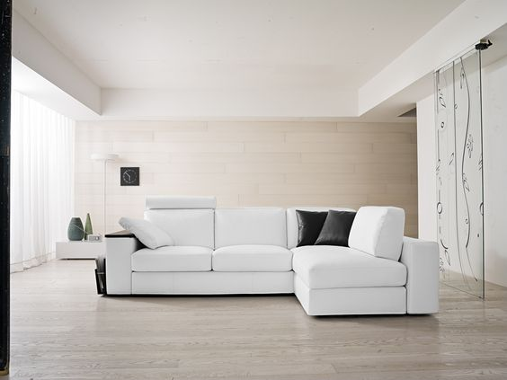 Il divano night & day by samoa. #white #bianco #divani #furniture ...