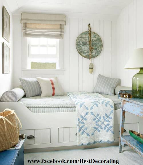 interior design nantucket style - Small guest rooms, Bedroom decorating ideas and Guest rooms on ...