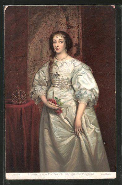 old postcard: Künstler-AK Stengel & Co. Nr. 29695: Königin Henrietta von England