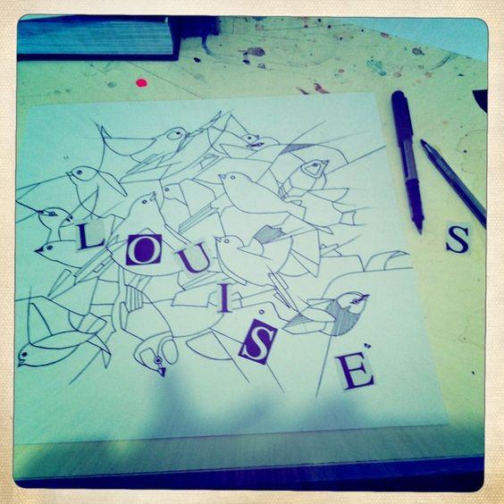 Dessin pour une chambre du0027enfant pour une petite Louise Tableaux - dessiner sa chambre en d