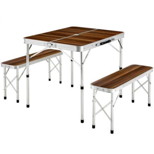 Ensemble Table Pliante Valise Avec 2 Bancs Camping Aluminium Pique Nique Jardin Table De Pique Nique Table Pliante Table De Pique Nique Pliante