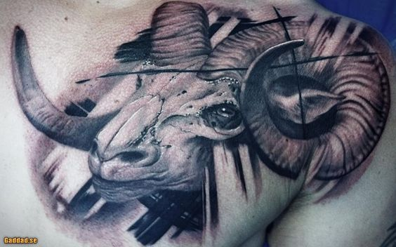 realistic capricorn tattoo google search tattoos pinterest steinbock tattoos und suche. Black Bedroom Furniture Sets. Home Design Ideas