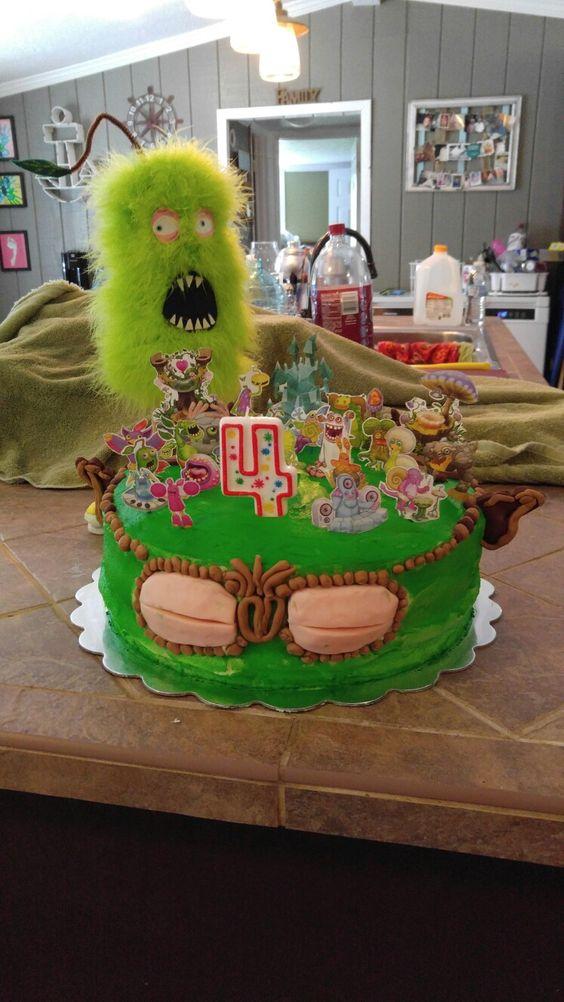 Singing monster cake
