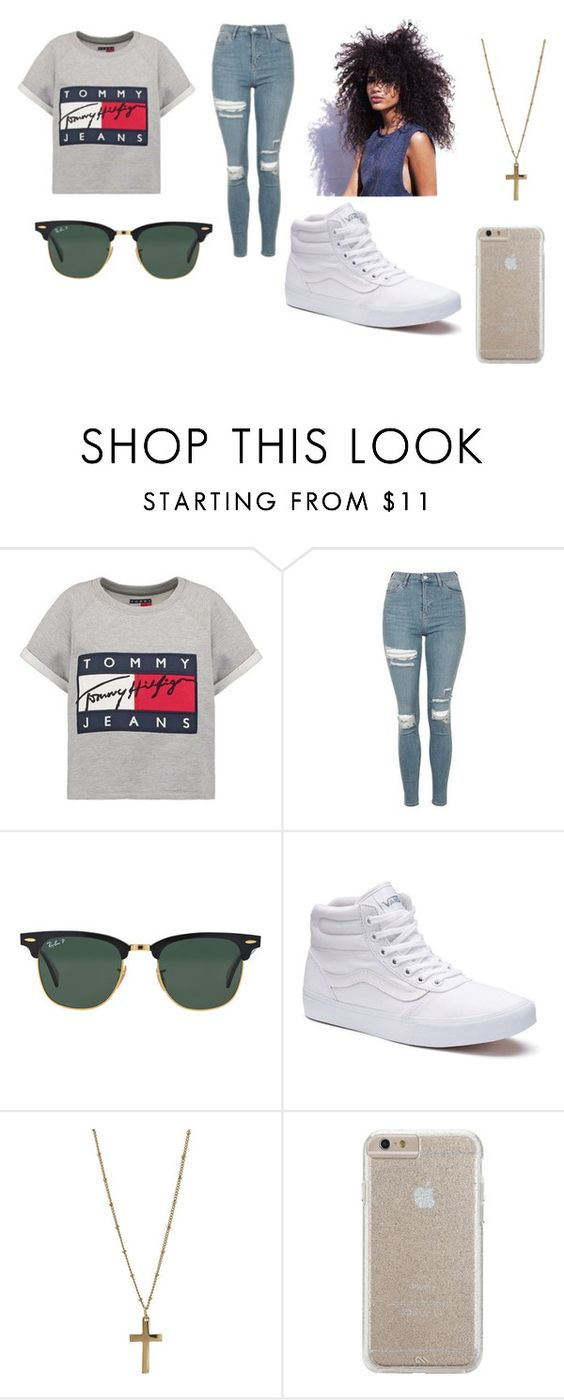 """Tommy Hilfiger"" by cheetahshrimp1 ❤ liked on Polyvore featuring Hilfiger, Topshop, Ray-Ban, Vans, Dorothy Perkins and Case-Mate"