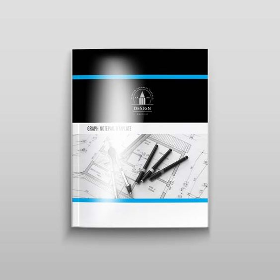 Graph Notepad Template A4