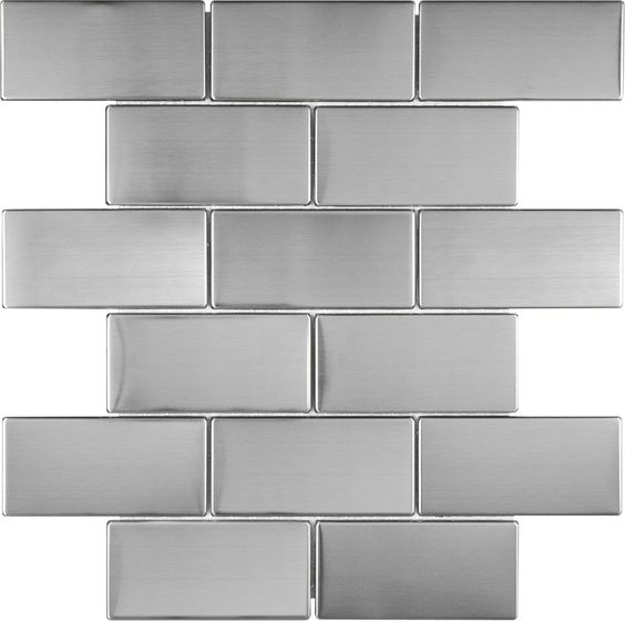 2X4 Stainless Steel Mosaic