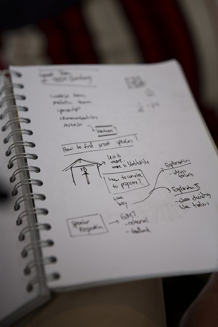 So impressed with the note-taking skills of these TEDx-ers at TEDxSummit in Doha. Photo by Kris Krüg