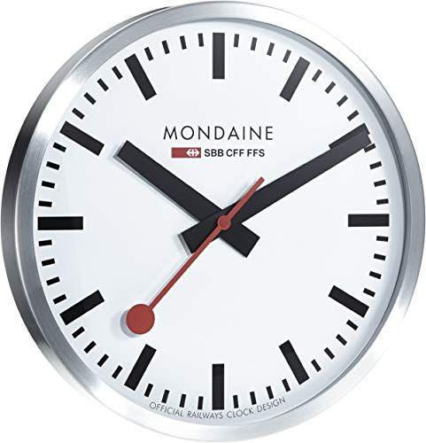 New Mondaine A995 Clock 16sbb Wall Clock Large White Dial Home Decor 250 Topusashoppingsite In 2020 Mondaine Wall Clock Wall Clock Classic Swiss Railway Wall Clock