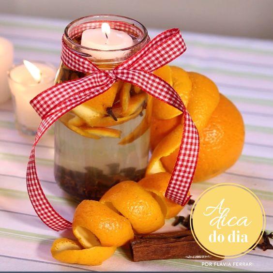 Cascas de laranja, cravo, canela e noz moscada são os ingredientes deste aromatizador delicioso que deixa a casa com perfume de Natal. Confira estas e mais três receitas sugeridas por Flávia Ferrari em mais este vídeo do #aDicadoDia: