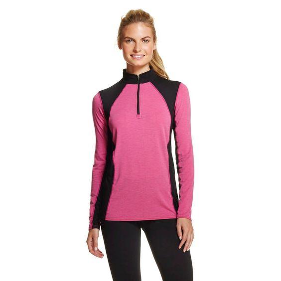 Hot Chillys Women's Wool Stretch Thermal Underwear Zip Up Shirt ...