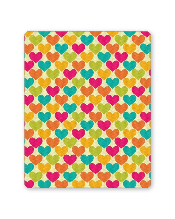 Vintage Hearts Pattern Mouse Pad