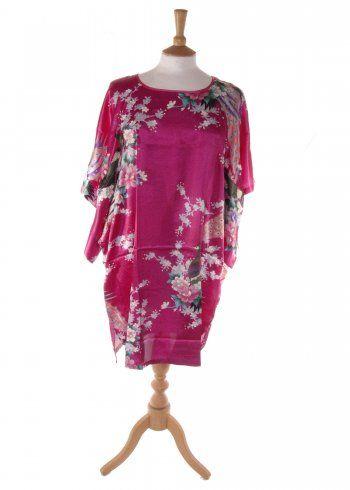 Shanghi Silk Kaftan in Pink