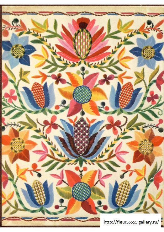 Estonian folk art embroidery pattern texture motif
