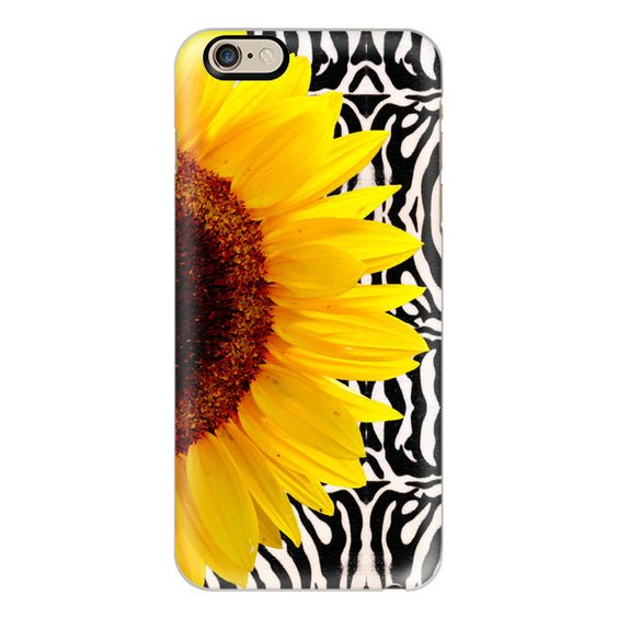 iPhone 6 Plus/6/5/5s/5c Case - Bright Yellow Summer Sunflower on Zebra... (1 015 UAH) ❤ liked on Polyvore featuring accessories, tech accessories, iphone case, slim iphone case, apple iphone cases and iphone cover case