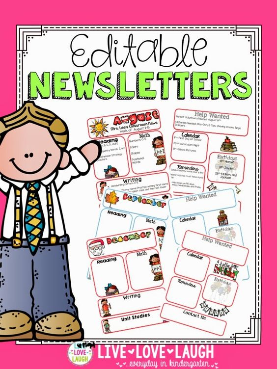 Kindergarten Calendar For Parents : Parent communication newsletters and calendars