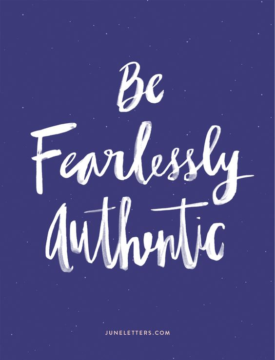 Be Fearlessly Authentic — June Letters Studio