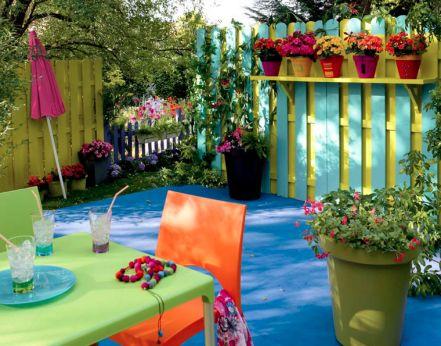Id Es D Co Pour Un Balcon Ou Une Terrasse Intime Arri Re Cours D Coration Et Couleur: decorer sa terrasse exterieure