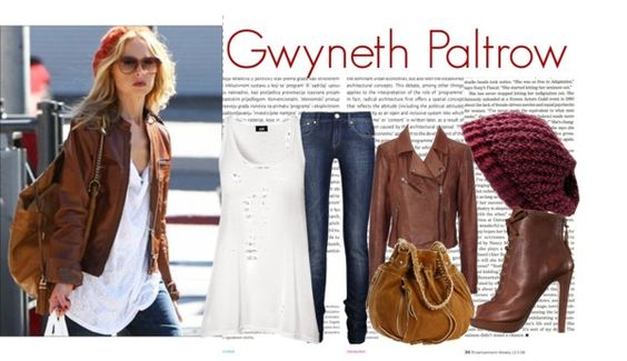"""Day Look : Gwyneth Paltrow"" by marshanabila ❤ liked on Polyvore"