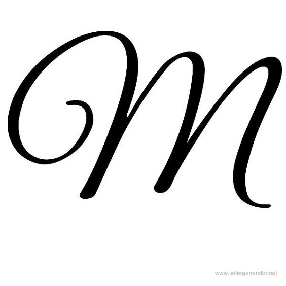 M In Fancy Cursive Great Vibes Printable ...