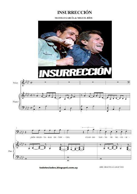Insurrección Manolo García Miguel Ríos Miguel Rios Partituras Manolo Garcia