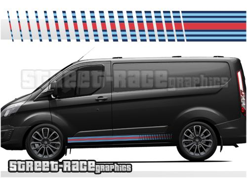 Ford Transit Custom Martini Racing Stripes Martini Racing Stripes Ford Transit Racing Stripes
