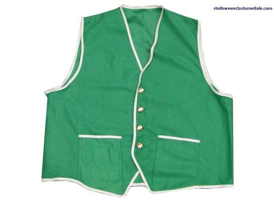 Velour Green Adult Vest.  #stpatricksday #saintpatricksday #costumes #dress #stpattysday #saintpattysday #pattys #day