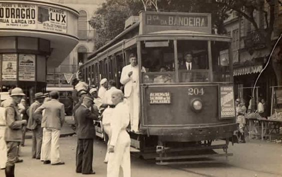 Bonde no Rio de Janeiro antigo