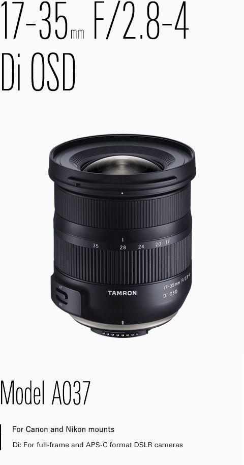 Tamron 17 35mm F 2 8 4 Di Osd Tamron Dslr Camera Dslr