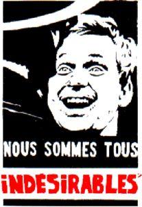 Affiche mai 68 - Anonyme (comme presque toutes les affiches produites par l'atelier des Beaux-Arts. Sérigraphie. Encre noire ... et rouge pour celle-ci