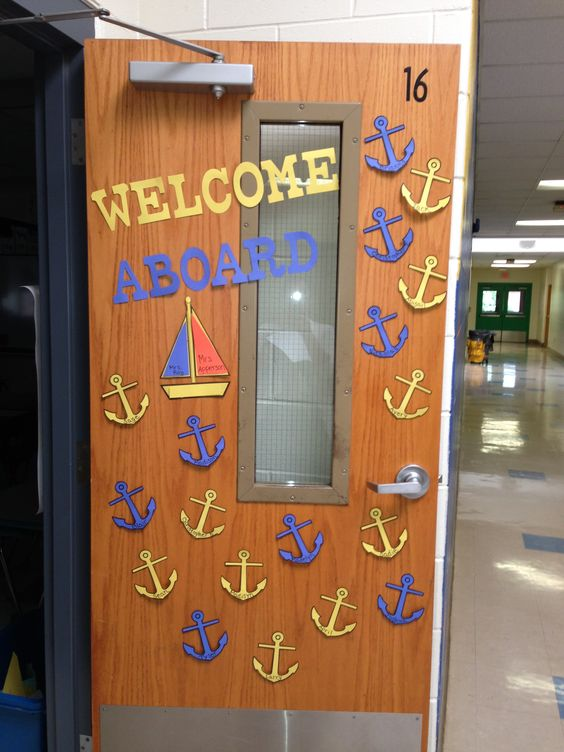 Back to creative and back to school on pinterest for Anchor door decoration